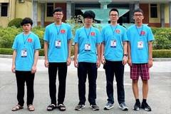 Các thành viên đội tuyển Việt Nam dự thi Olympic Vật lý quốc tế năm 2021. (Ảnh: Vietnamnet)