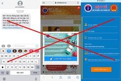 Người dùng nhận được tin nhắn và được dụ nhập thông tin cá nhân, thẻ ngân hàng. (Ảnh: VnExpress)