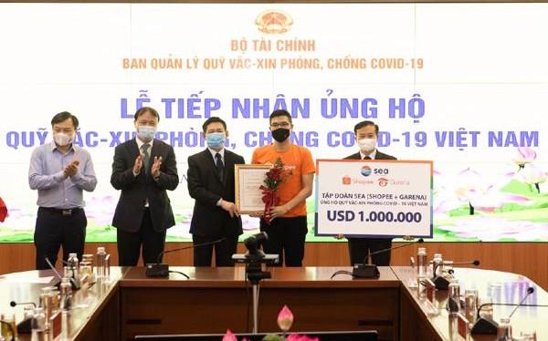 Shopee và Garena Việt Nam ủng hộ 1 triệu USD vào Quỹ vắc-xin phòng Covid-19