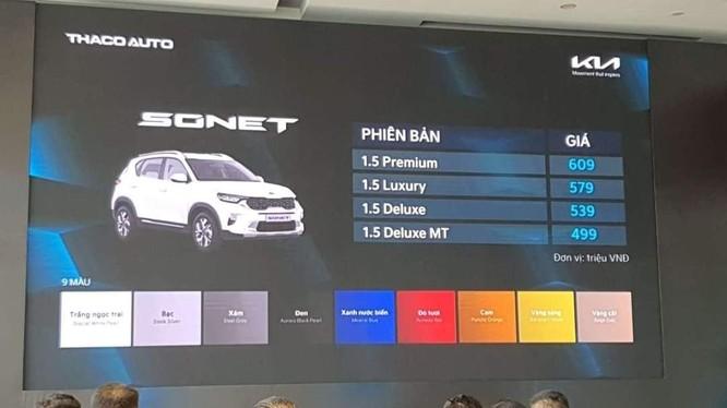 Kia Sonet nhận đặt hàng, giá từ 499 triệu, bắt đầu giao xe từ tháng sau