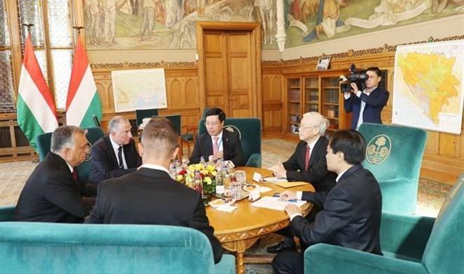 Tổng Bí thư Nguyễn Phú Trọng hội đàm riêng với Thủ tướng Hungary Viktor Orban.