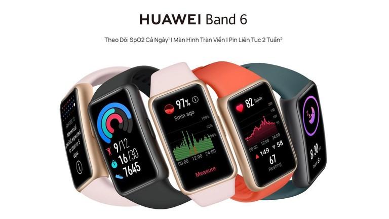 Huawei Band 6 ra mắt tại thị trường Việt Nam với mức giá 1.490.000 Đồng