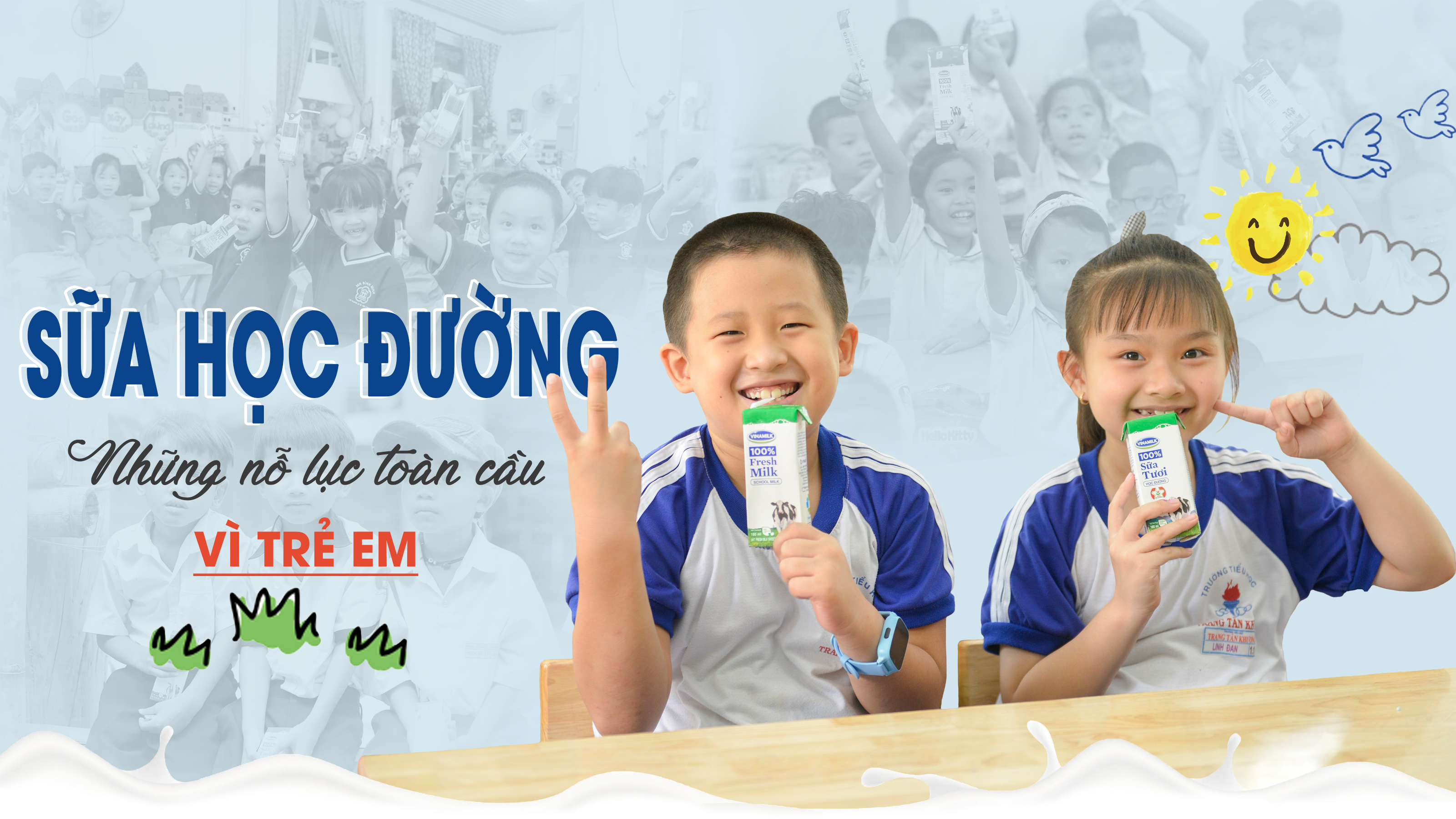 Sữa học đường - Những nỗ lực toàn cầu vì trẻ em