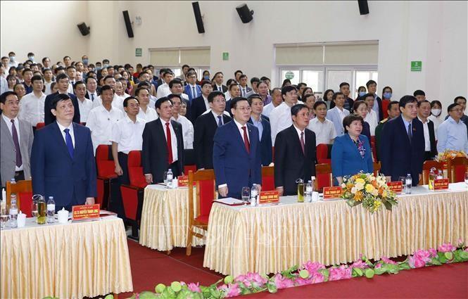 Chủ tịch Quốc hội Vương Đình Huệ thăm và làm việc tại tỉnh Nghệ An ảnh 1