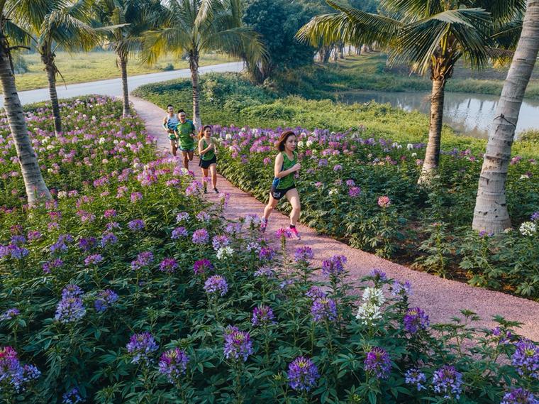 Ecopark Marathon 2021 - Ngắm cung đường chạy giữa thiên nhiên 'siêu chất' trước giờ G ảnh 1