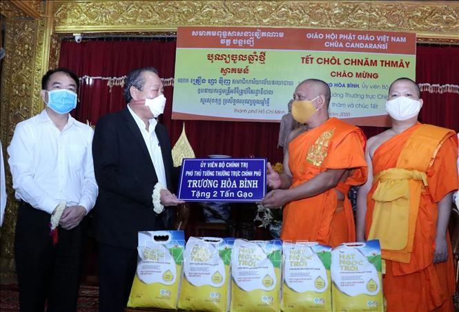 Phó Thủ tướng Thường trực Trương Hòa Bình chúc mừng Tết cổ truyền Khmer Chol Chnam Thmay ảnh 1