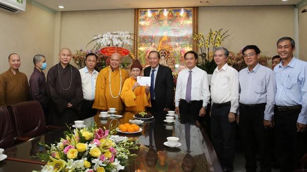 Phó Thủ tướng Trương Hòa Bình chúc mừng Lễ Vu lan ảnh 1