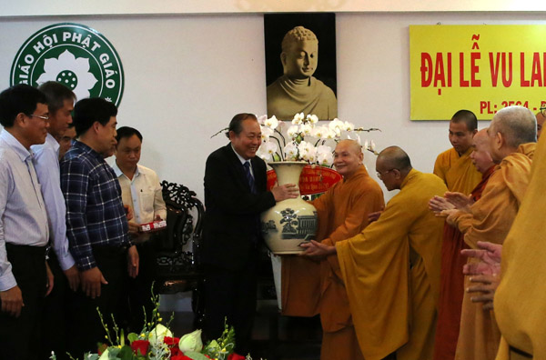Phó Thủ tướng Trương Hòa Bình chúc mừng Lễ Vu lan ảnh 3