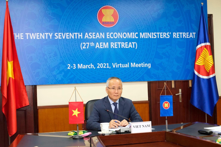 Các Bộ trưởng Kinh tế ASEAN thảo luận các vấn đề phục hồi kinh tế sau đại dịch COVID-19 ảnh 1