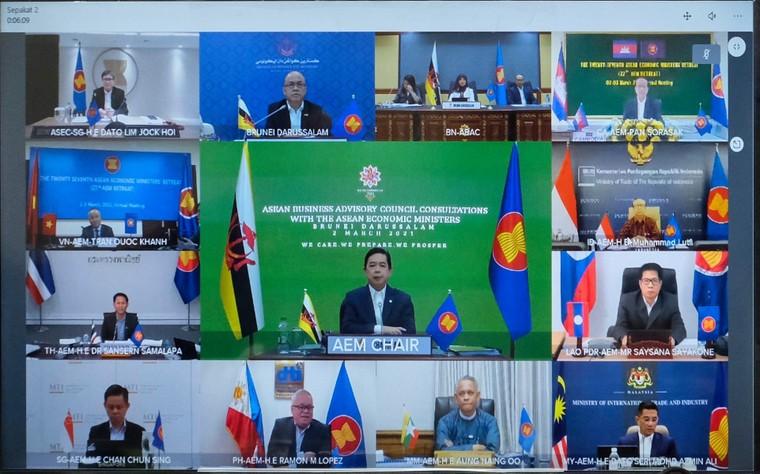 Các Bộ trưởng Kinh tế ASEAN thảo luận các vấn đề phục hồi kinh tế sau đại dịch COVID-19 ảnh 2
