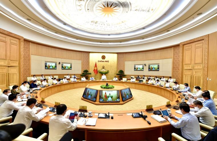 Thủ tướng Phạm Minh Chính chủ trì phiên họp Chính phủ thường kỳ tháng 4/2021 ảnh 1