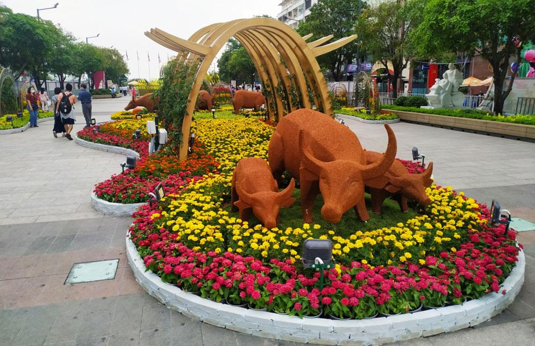 Độc đáo hình tượng trâu Tết Tân Sửu tại thành phố Hồ Chí Minh ảnh 3