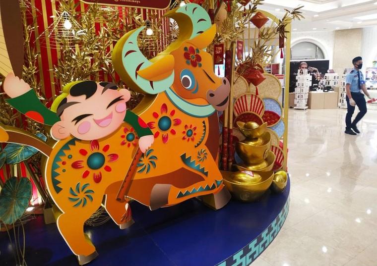 Độc đáo hình tượng trâu Tết Tân Sửu tại thành phố Hồ Chí Minh ảnh 4