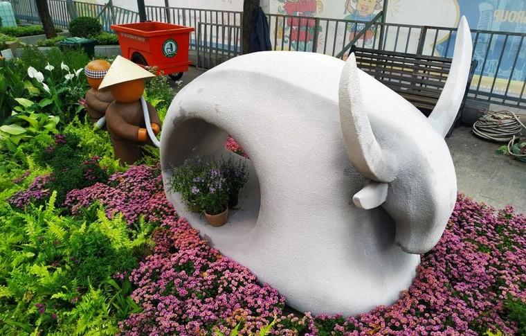 Độc đáo hình tượng trâu Tết Tân Sửu tại thành phố Hồ Chí Minh ảnh 6