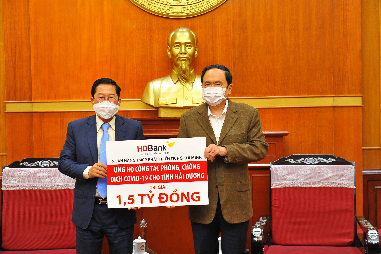 HDBank trao 1,5 tỷ đồng hỗ trợ tỉnh Hải Dương phòng chống dịch COVID-19 ảnh 1
