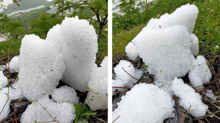 Sơn La: mưa đá làm thiệt hại hơn 200 ha hoa màu ảnh 2