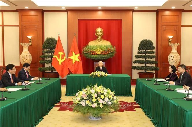 Tổng Bí thư, Chủ tịch nước Nguyễn Phú Trọng điện đàm cùng Thủ tướng Nhật Bản ảnh 2