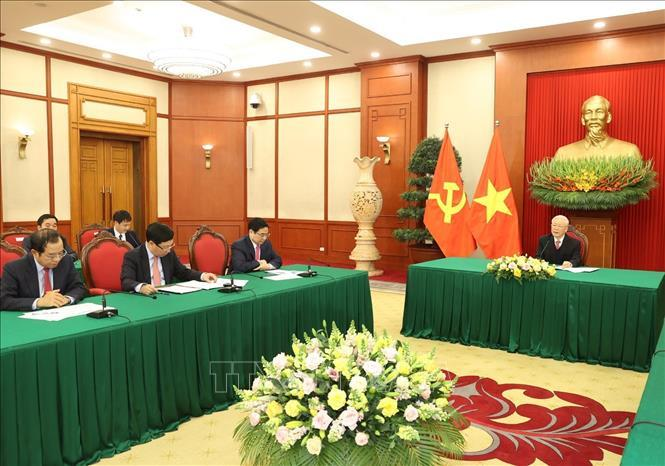 Tổng Bí thư, Chủ tịch nước Nguyễn Phú Trọng điện đàm cùng Thủ tướng Nhật Bản ảnh 3