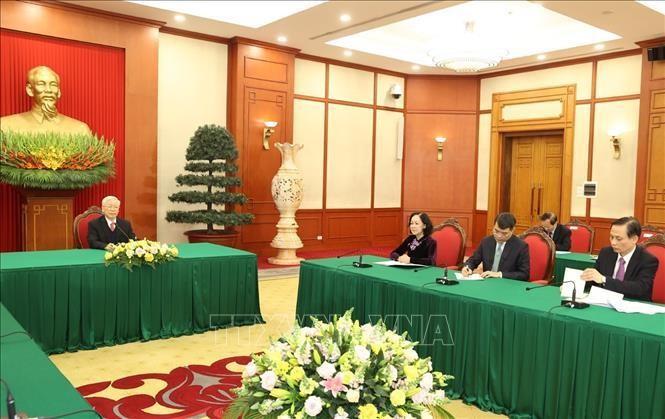 Tổng Bí thư, Chủ tịch nước Nguyễn Phú Trọng điện đàm cùng Thủ tướng Nhật Bản ảnh 4