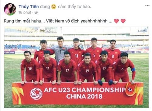 Công Vinh - Thủy Tiên và hàng loạt sao 'bùng nổ' cảm xúc sau chiến thắng của U23 Việt Nam ảnh 2