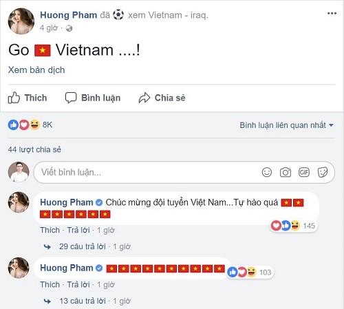 Công Vinh - Thủy Tiên và hàng loạt sao 'bùng nổ' cảm xúc sau chiến thắng của U23 Việt Nam ảnh 3
