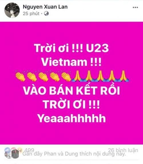 Công Vinh - Thủy Tiên và hàng loạt sao 'bùng nổ' cảm xúc sau chiến thắng của U23 Việt Nam ảnh 7