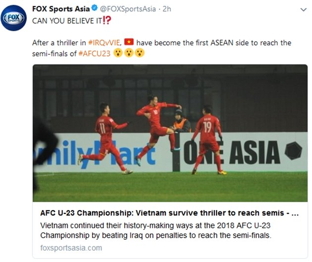 Cả báo chí nước ngoài và chuyên gia trong nước cũng không tin nổi chiến tích của U23 Việt Nam ảnh 1