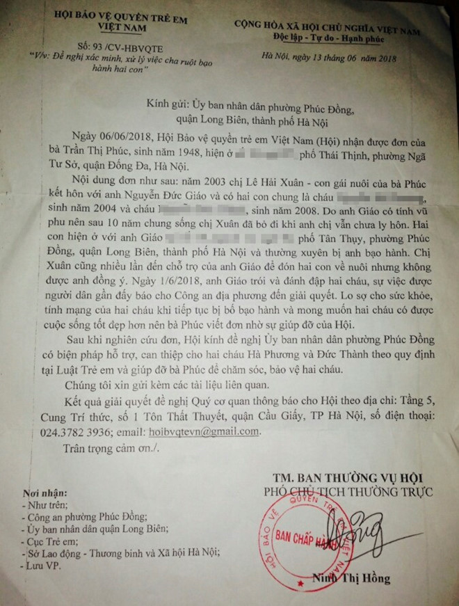 Hà Nội: Người bố dùng gậy nhôm đánh con trần tình sự việc ảnh 1
