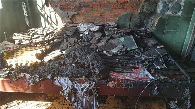 Cháy nhà nghỉ ở Bình Phước, nghi do khách trọ phóng hỏa ảnh 1