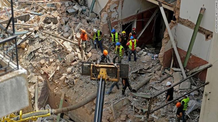 Đội cứu hộ Chile ngừng tìm kiếm nạn nhân của vụ nổ tại Beirut ảnh 1