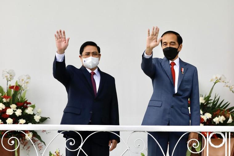 Thủ tướng Phạm Minh Chính hội đàm với Tổng thống Indonesia ảnh 1