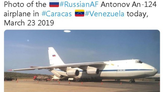 Mỹ kêu gọi chặn máy bay Nga tới Venezuela ảnh 1