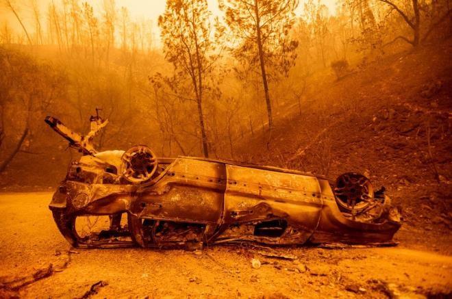 Ảnh: California chìm trong khói lửa màu cam như sao Hỏa - 7