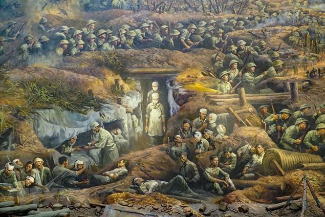 Cận cảnh bức tranh khổng lồ tái hiện chiến thắng Điện Biên Phủ ảnh 4
