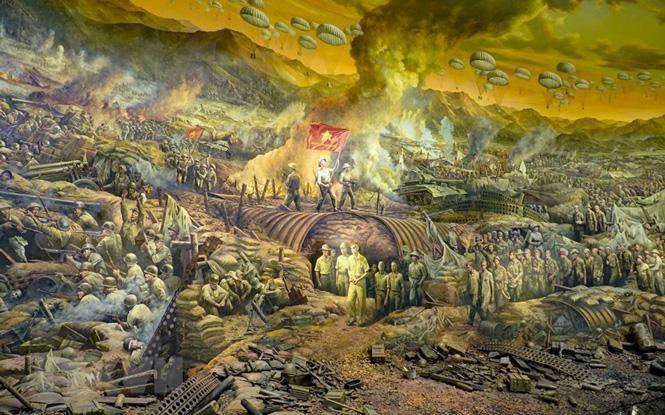 Cận cảnh bức tranh khổng lồ tái hiện chiến thắng Điện Biên Phủ ảnh 5