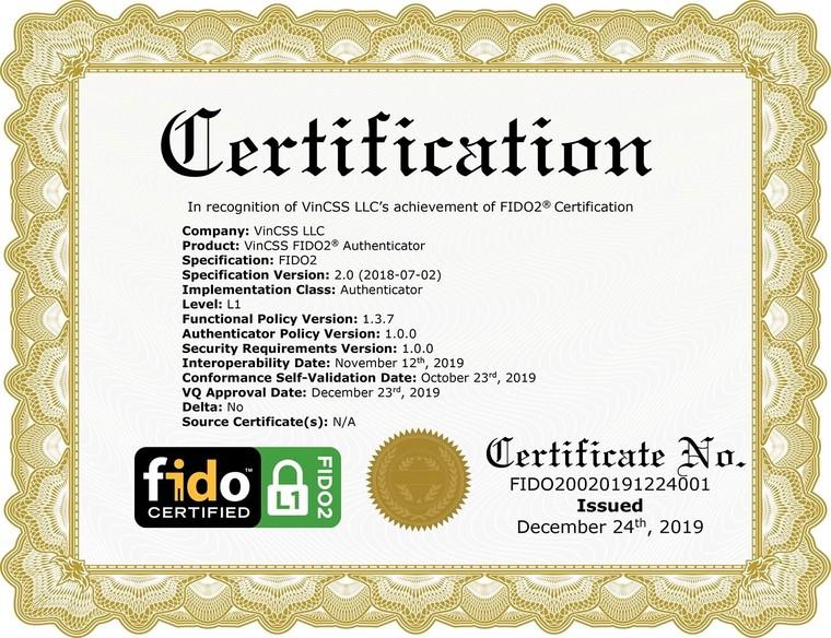 Vingroup là 1 trong 34 công ty đạt xác thực bảo mật FIDO2 toàn cầu ảnh 2