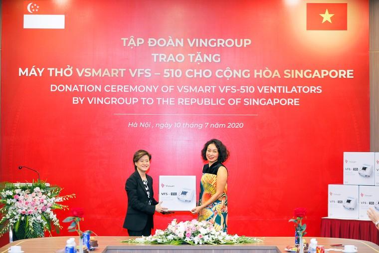 Vingroup trao tặng 1.000 máy thở cho Nga, Ucraina và Singapore ảnh 1