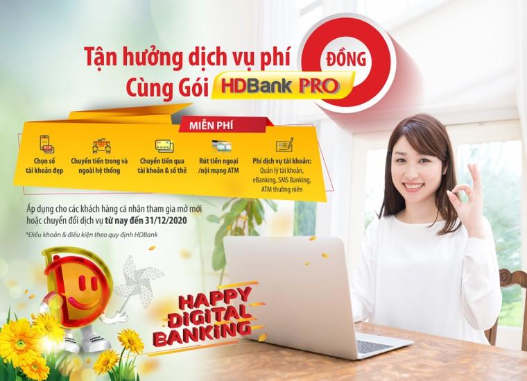 HDBank thúc đẩy thanh toán không tiền mặt, triển khai miễn giảm nhiều loại phí ảnh 1