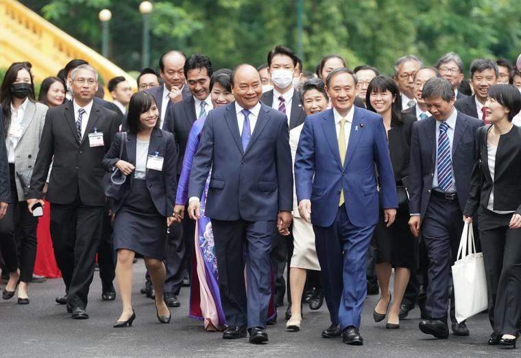 Lễ đón chính thức thủ tướng Nhật Bản thăm chính thức Việt Nam ảnh 5