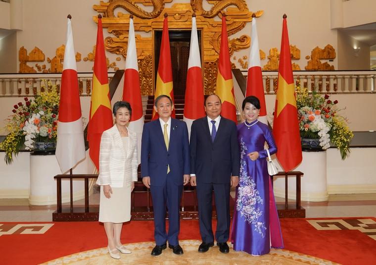 Lễ đón chính thức thủ tướng Nhật Bản thăm chính thức Việt Nam ảnh 8