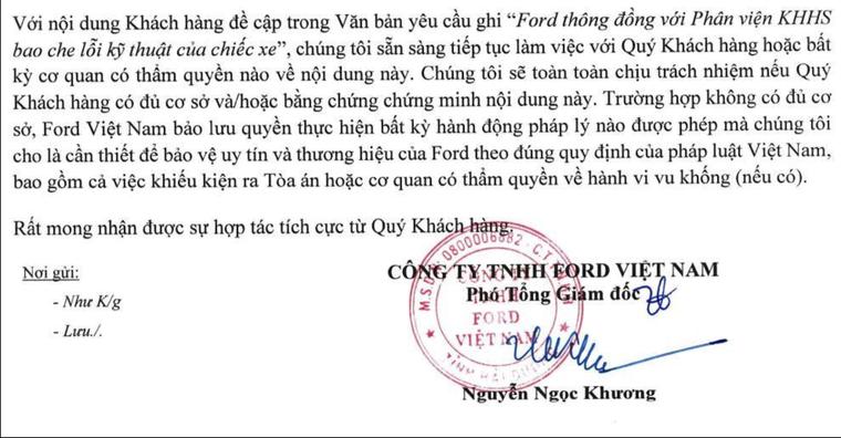 Xe Ford Ranger cháy, bảo hiểm từ chối bồi thường, chủ xe 'kêu cứu', Ford Việt Nam sẽ kiện khách hàng? ảnh 4