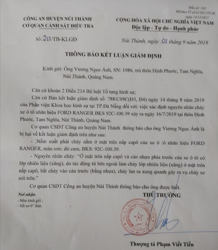 Xe Ford Ranger cháy, bảo hiểm từ chối bồi thường, chủ xe 'kêu cứu', Ford Việt Nam sẽ kiện khách hàng? ảnh 2