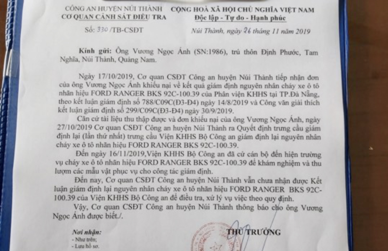 Xe Ford Ranger cháy, bảo hiểm từ chối bồi thường, chủ xe 'kêu cứu', Ford Việt Nam sẽ kiện khách hàng? ảnh 3