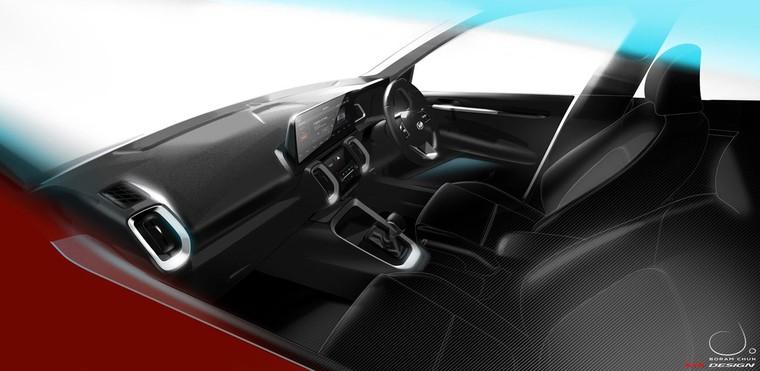 Kia Sonet 2021 lộ diện nội thất đầy công nghệ ảnh 1