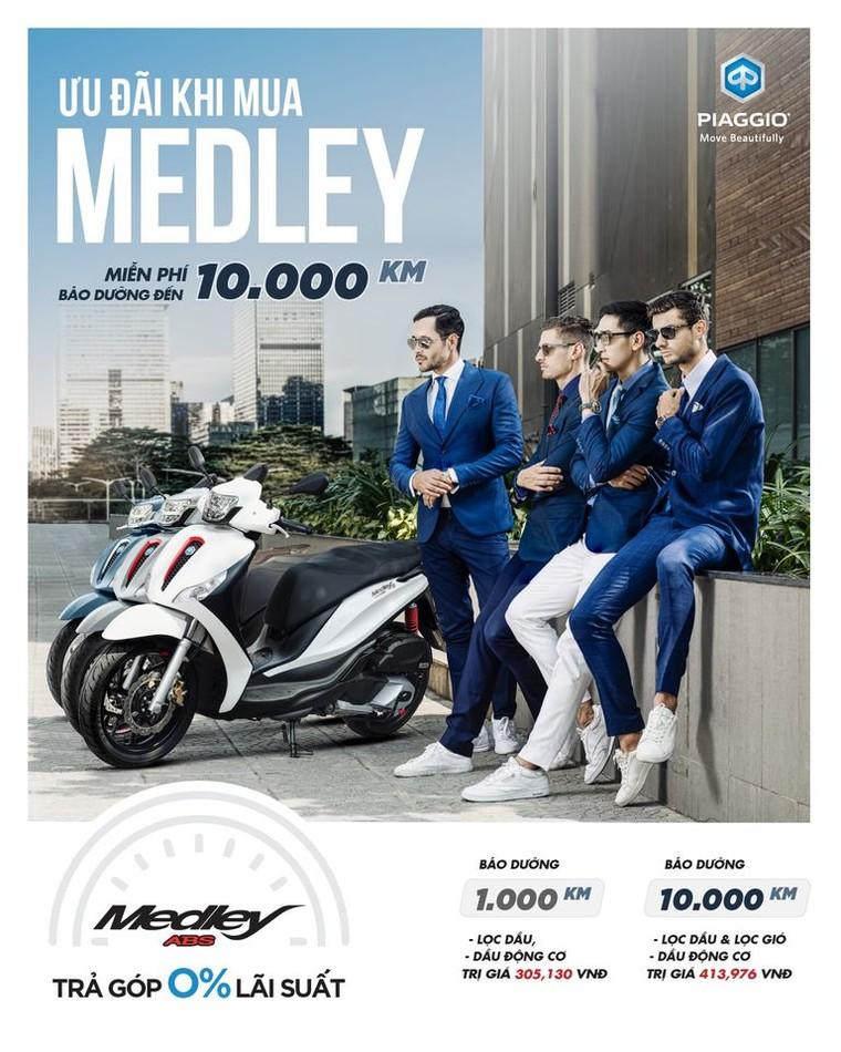 Piaggio Việt Nam giới thiệu ưu mới dành cho khách hàng mua xe Piaggio Medley 2020 ảnh 1