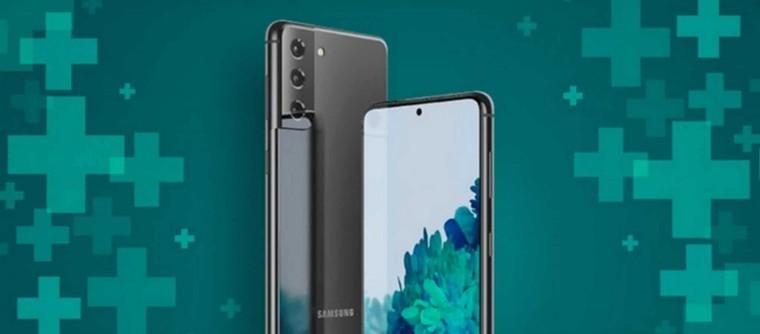 Hộp đựng Samsung Galaxy S21 có thể sẽ không bao gồm củ sạc hoặc tai nghe ảnh 1