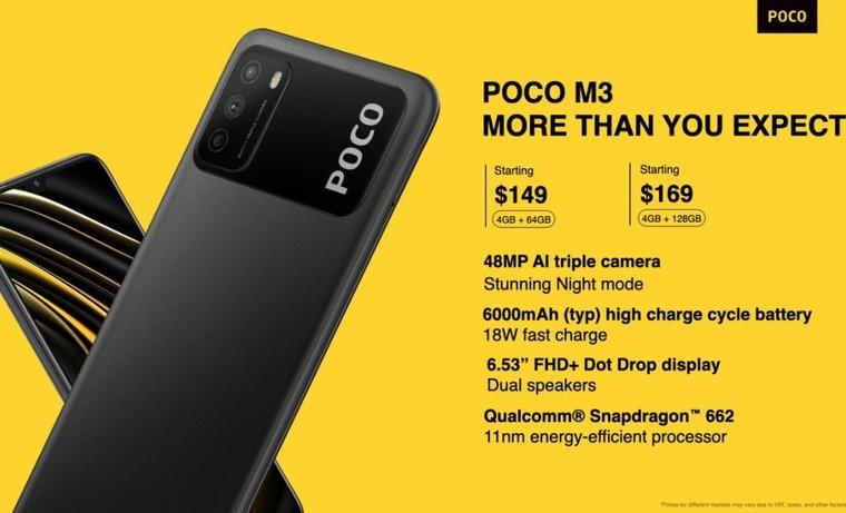 Xiaomi POCO M3 ra mắt thị trường toàn cầu: Vi xử lý Snapdragon 662, pin lớn 6000mAh, giá khởi điểm 149USD( khoảng 3,5 triệu Đồng) ảnh 2