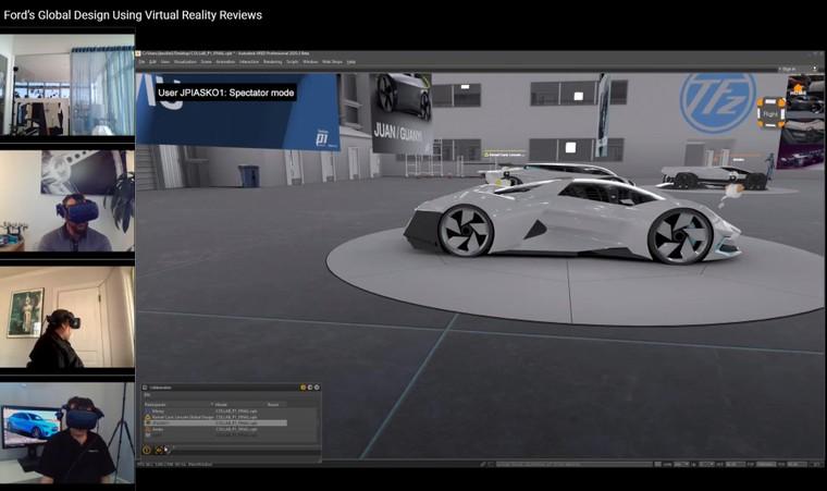 Đội ngũ thiết kế của Ford làm việc tại nhà thông qua công nghệ thực tế ảo ảnh 3