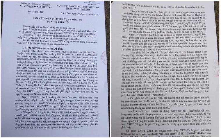 Ông Nguyễn Văn Nhanh phàn nàn gì lãnh đạo huyện Trảng Bom để bị khởi tố? ảnh 1