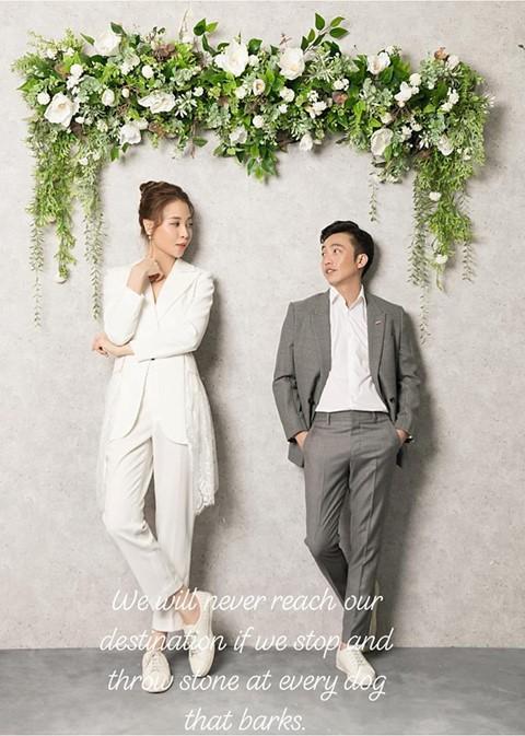 Cường Đô La và Đàm Thu Trang công khai ảnh cưới ảnh 2